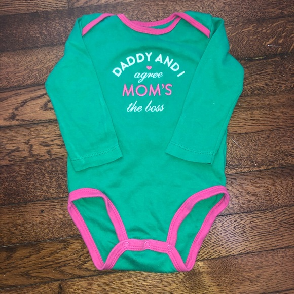 Carters Baby Girls Moms The Boss Bodysuit Green 6M